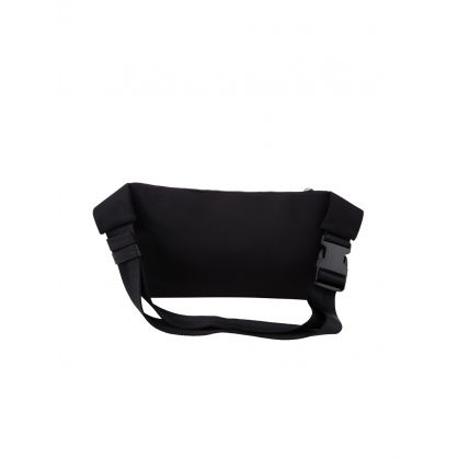 Black Nylon Record Waist Bag