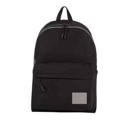 Black Nylon-Twill Reflective Detail Record MF Backpack