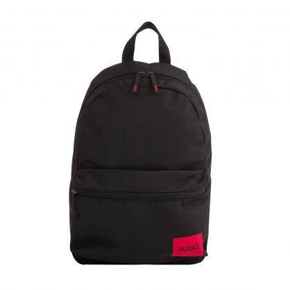 Black Red Logo Label Ethon Backpack
