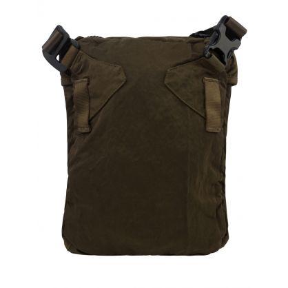 Green Garment-Dyed Nylon Crossbody Bag