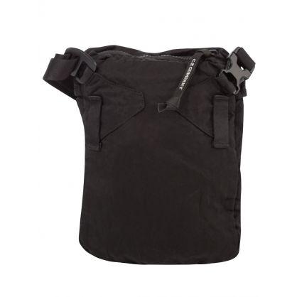 Black Nylon B. Lens Shoulder Pack Bag