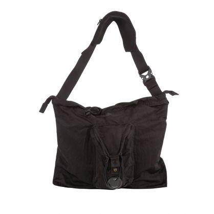 Black Nylon B Compact Pouch Bag