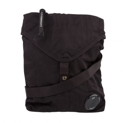 Black Nylon B Garment-Dyed Crossbody Lens Bag