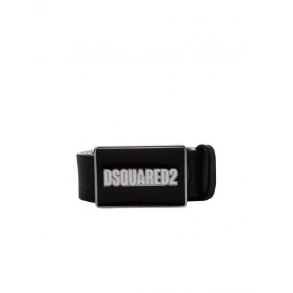 Black Logo Plaque Belt
