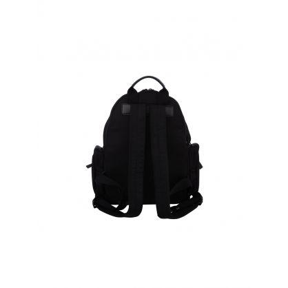 Black Nylon Logo Backpack