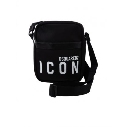 Black Nylon ICON Crossbody Bag