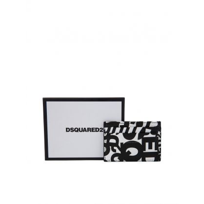 White/Black Multi Logo Card Holder
