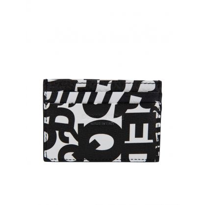 White/Black Multi Logo Card Holder