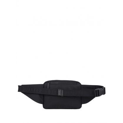 Black Nylon Logo Waist Bag