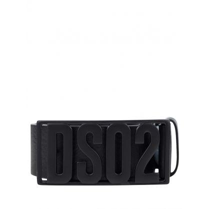 Black DSQ2 Plaque Logo Belt