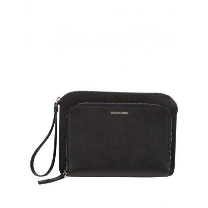 Black Leather Dylan Clutch Bag