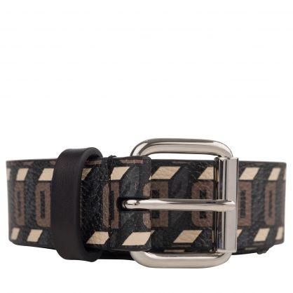 Brown/Black D2 Monogram Belt