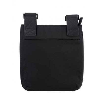 Black Nylon Eagle Logo Messenger Bag