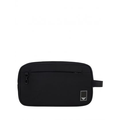 Black Nylon Eagle Wash Bag