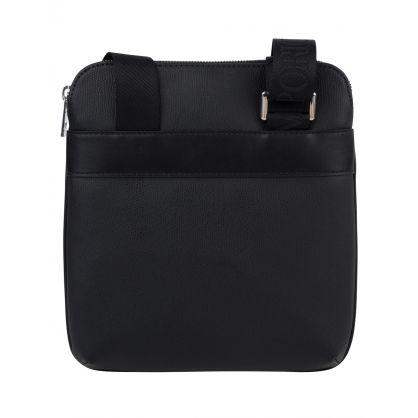 Black Eagle Logo Plate Messenger Bag