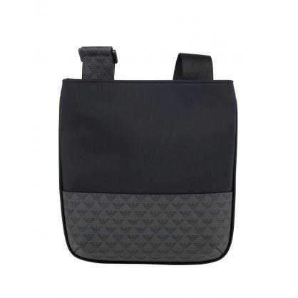 Navy/Black Multi Logo Messenger Bag