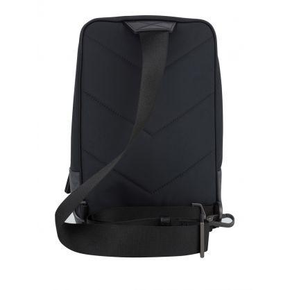 Black Eagle-Print Sling Bag