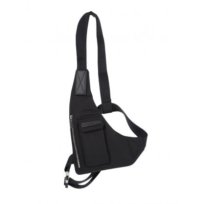 Black Nylon Sling Bag