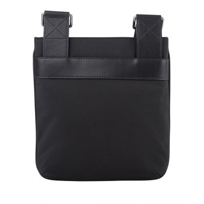 Black Leather/Nylon Messenger Bag