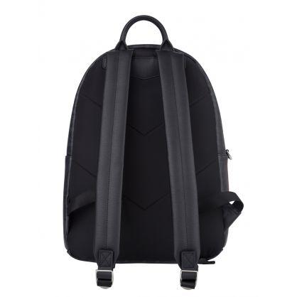 Black Multi-Letter Logo Backpack