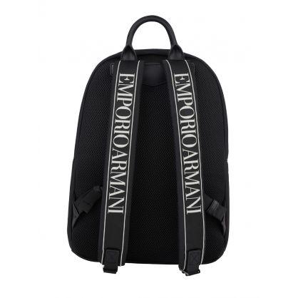 Black Tape Nylon Backpack