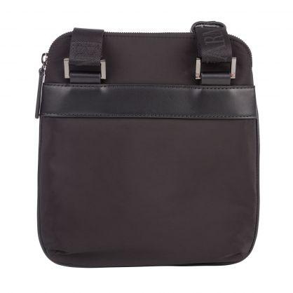 Black Nylon Monogrammed Eagle Crossbody Bag