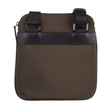 Green/Black Nylon Monogrammed Eagle Crossbody Bag