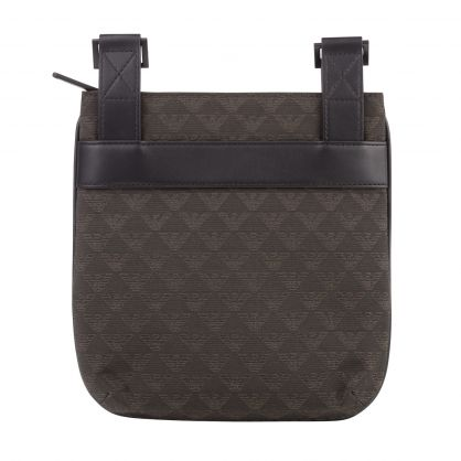 Green/Black Jacquard Logo Messenger Bag