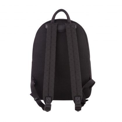 Black Nylon Jacquard Monogram Backpack