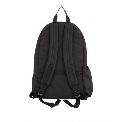 Black Padded Double Backpack