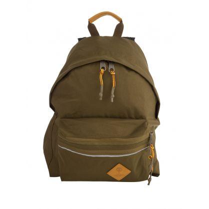 Khaki Green Padded Zippl'r Backpack
