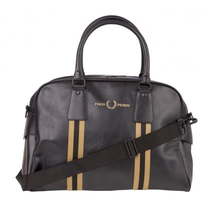 Black Refined Webbing Grip Barrel Bag