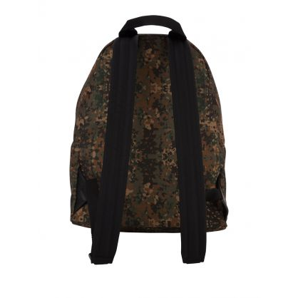Green Digital Camo-Print Backpack
