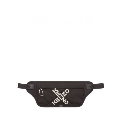 Black Sport 'Big X' Flat Waist Bag