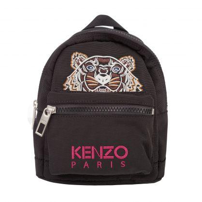 Black Canvas Mini Kampus Tiger Backpack