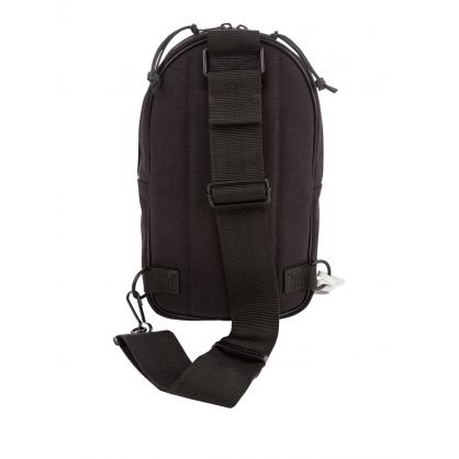 Black Nylon & Leather Micro Crossbody Bag
