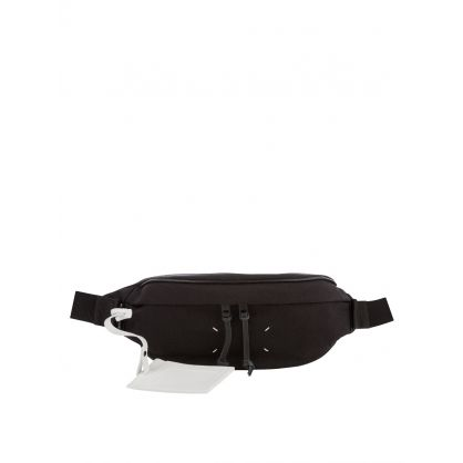 Black Nylon & Leather Waist Bag