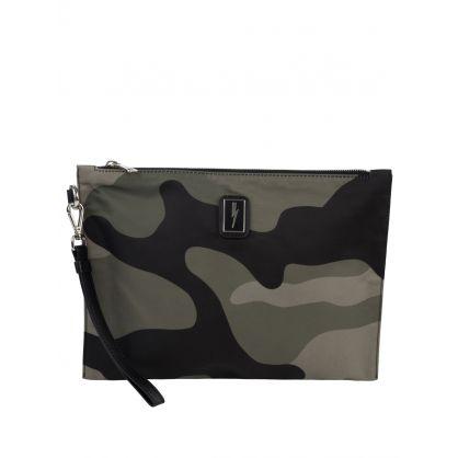 Green Camouflage Portfolio Bag