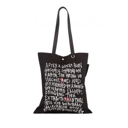 Black E.T. Cotton Tote Bag