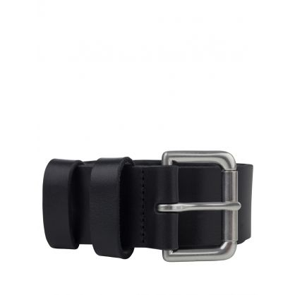 Black Roller Buckle Belt