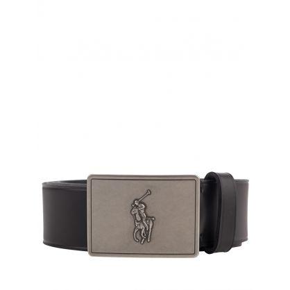 Black Vachetta Plaque Belt