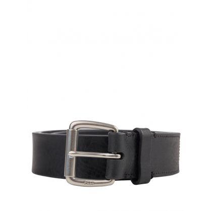 Black Veg Leather Belt