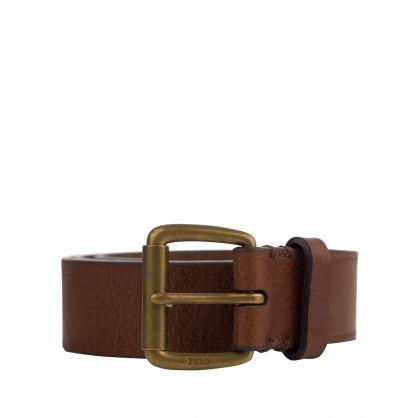 Brown Veg Leather Belt