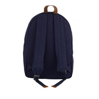 Navy Polo Bear Canvas Backpack