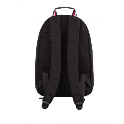 Black Established Logo Embroidery Backpack