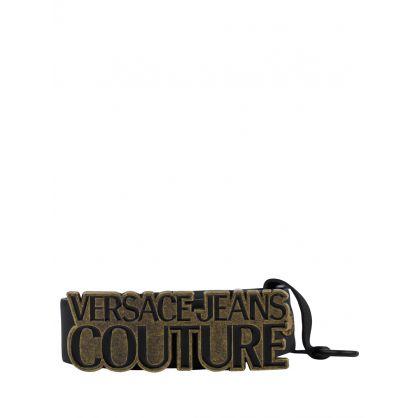 Black Rustic Logo Belt