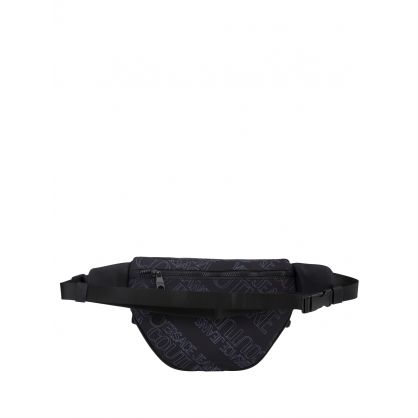 Black Allover Logo Waistbag