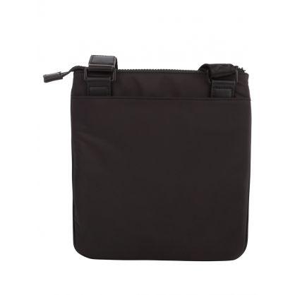 Black Logo Messenger Bag