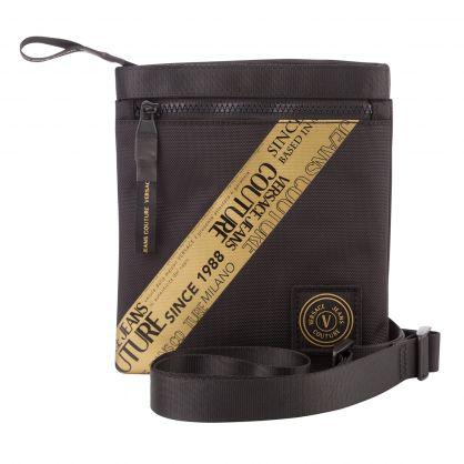 Black Etichetta Tape Small Crossbody Bag