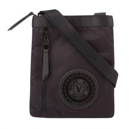Black V-Emblem Bag